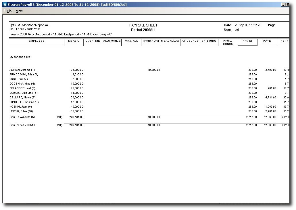 Payroll Sample. Payroll Control Setup - Edeneb Construction